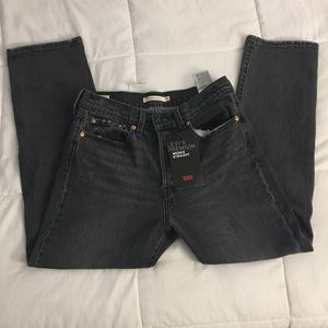 Levi Gray Wedgie Straight Jeans 28 x 26